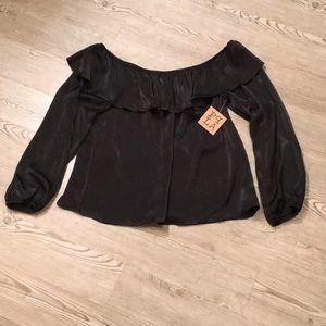 Gorgeous black silk top by PPLA